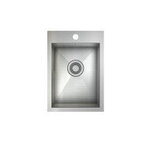 ProInox H0 Single Bowl Topmount Prep/Bar Kitchen Sink ProInox H0 18-gauge Stainless Steel, 12'' x 16'' x 8''