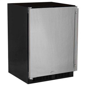 Marvel24-In Built-In Refrigerator Freezer With Maxstore Bin with Door Style - Stainless Steel, Door Swing - Left