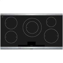 800 Series 36 Induction Cooktop with SteelTouch Control and AutoChef Stainless Steel Strips