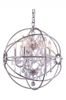 1130 Geneva Collection Pendent Lamp Polished Nickel Finish Product Image