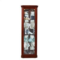 Lighted 8 Shelf Corner Curio Cabinet in Victorian Brown Product Image