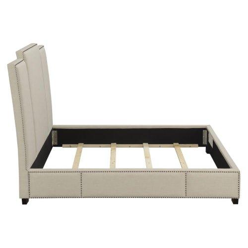 Lawndale Beige Upholstered California King Bed