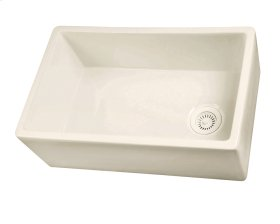 "FS30 Single Bowl Fireclay Farmer Sink - 30"" - Bisque"