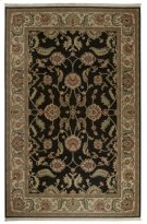 Agra Black Rectangle 5ft 9in X 9ft Product Image
