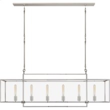 Visual Comfort S5195PN-CG Ian K. Fowler Halle 6 Light 56 inch Polished Nickel Linear Pendant Ceiling Light, Large
