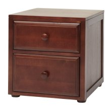 2 Drawer Night Stand : Chestnut