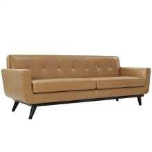 Engage Bonded Leather Sofa in Tan