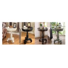 GREY ROUND END TABLE