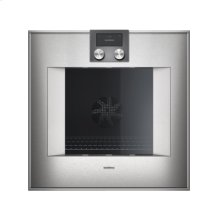 "400 series single oven BO 451 610 Stainless steel-backed full glass door Width 24"" (60 cm) Left-hinged controls on top"