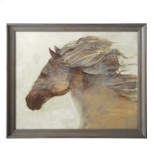 Framed Horse Wall Art with Glass.