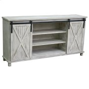 Covington White Wash Sliding Door Media Console Product Image