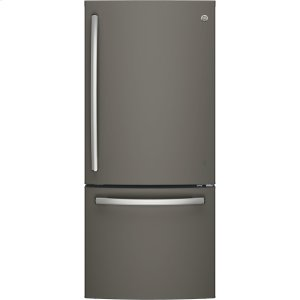 GE® ENERGY STAR® 21.0 Cu. Ft. Bottom-Freezer Refrigerator - SLATE