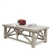 Aberdeen Coffee Table Weathered Worn White finish