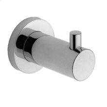 Uncoated Polished Brass - Living Single Robe Hook