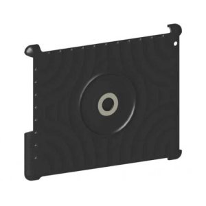 Black iPad® Mount For magnetic surfaces