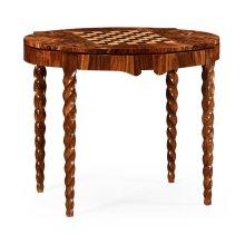 Walnut Barleytwist Game Table