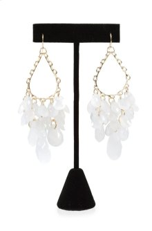 BTQ White Beaded Earrings