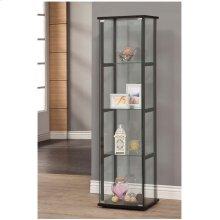 Contemporary Glass and Black Curio Cabinet