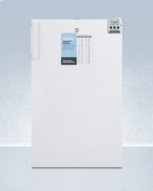 """ADA Compliant 20"""" Wide All-refrigerator for Built-in Use, With Internal Fan, Lock, Temperature Alarm, and Hospital Grade Plug"""