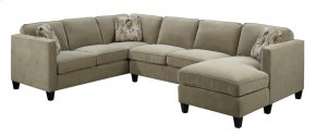 3 PC Sectional Lsf Corner Sofa-rsf Chaise-armless Love Granite