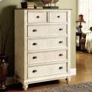 Coventry Two Tone - Five Drawer Chest - Weathered Driftwood/dover White Finish Product Image