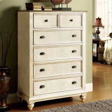 Coventry Two Tone - Five Drawer Chest - Weathered Driftwood/dover White Finish