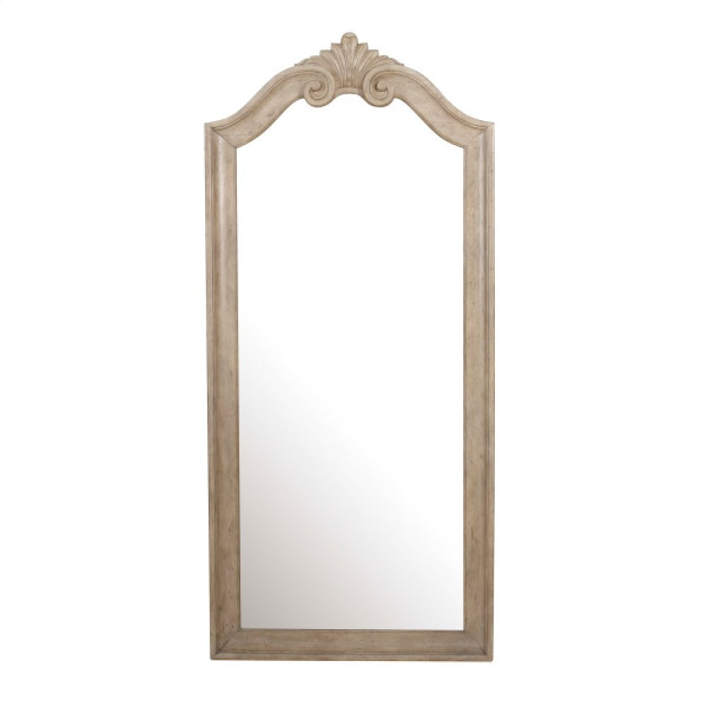 Monterey Framed Floor Mirror in Sandcastle Beige