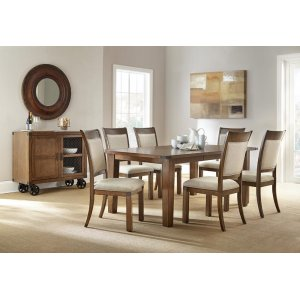 Steve Silver Co.Hailee 5-pc Dining Set: Table & 4 Chairs.   *shown as 7-pc set.