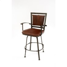 Steel Traditions - Amarillo Swivel Barstool With Leather Seat