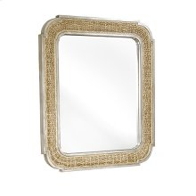 Woven Mirror - Natural/Light Gray Finish