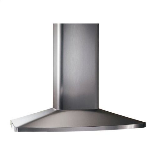 "Broan 480 CFM 27-9/16"" x 35-7/16"" Island Chimney Hood in Stainless Steel"