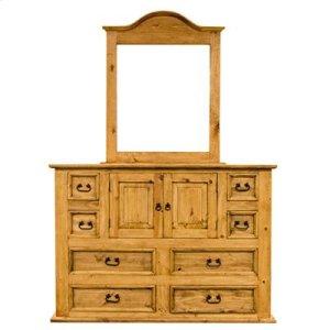 """Mirror : 39"""" x 2"""" x 46"""" Mansion Dresser"""