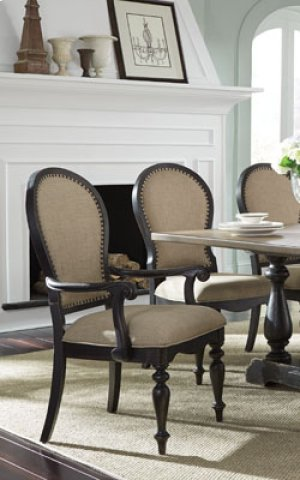 STANDARD 12281-3012281-12284-12285 Cambria Trestle Table, 6 Side Chairs & 2 Arm Chairs