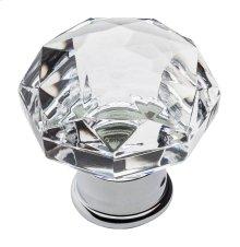 Polished Chrome Crystal Cabinet Knob