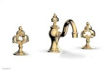 COURONNE Widespread Faucet Cross Handles 163-01 - Satin Brass