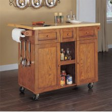 """Medium Oak"" 3-Drawer Kitchen Butler®"