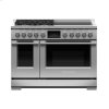 "Fisher & Paykel Dual Fuel Range, 48"", 4 Burners, 4 Induction Zones, Self-Cleaning"