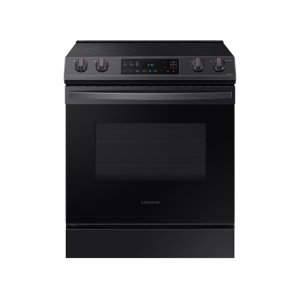 Samsung Appliances6.3 cu ft. Front Control Slide-in Electric Range with Wi-Fi in Black Stainless Steel