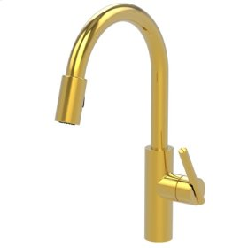 Aged Brass Pull-down Kitchen Faucet