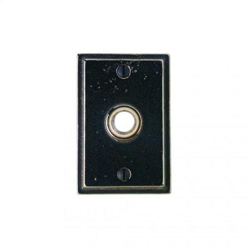 Stepped Doorbell Button White Bronze Dark