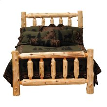 Traditional Log Bed King, Natural Cedar
