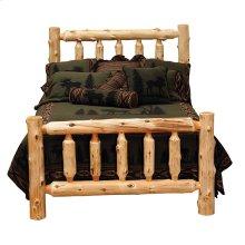 Traditional Log Bed King, Natural Cedar