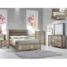 Matteo Queen Bedroom Set: Queen Bed, Nightstand, Dresser & Mirror