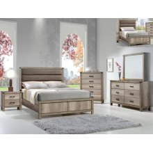 Matteo Queen Bedroom Set: Queen Bed, Nightstand, Dresser & Mirror