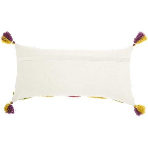 "Life Styles Ns884 Multicolor 1'2"" X 2'6"" Throw Pillows"