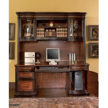 Pergola Two-tone Warm Brown Desk and Credenza