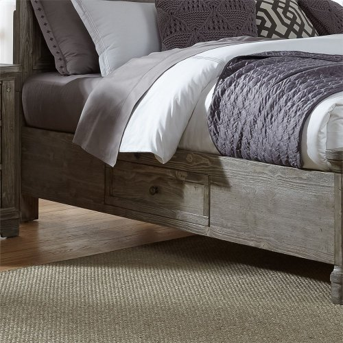 Queen Two Sided Storage Bed