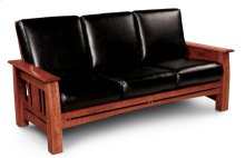 Aspen Sofa, Leather Cushion Seat