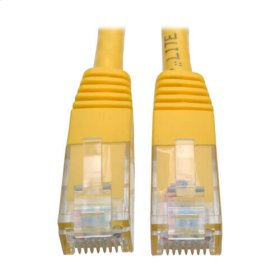 Premium Cat5/5e/6 Gigabit Molded Patch Cable, 24 AWG, 550 MHz/1 Gbps (RJ45 M/M), Yellow, 50 ft.