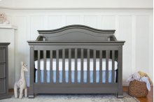 Manor Grey Louis 4-in-1 Convertible Crib with Toddler Bed Conversion Kit